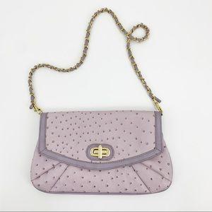 Aldo Lilac Purple Faux Ostrich Leather Bag Purse